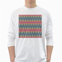 Pattern Background Texture Colorful White Long Sleeve T-Shirts