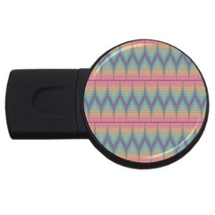 Pattern Background Texture Colorful Usb Flash Drive Round (4 Gb)