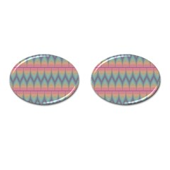 Pattern Background Texture Colorful Cufflinks (Oval)