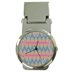 Pattern Background Texture Colorful Money Clip Watches