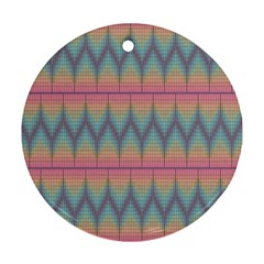 Pattern Background Texture Colorful Round Ornament (two Sides)