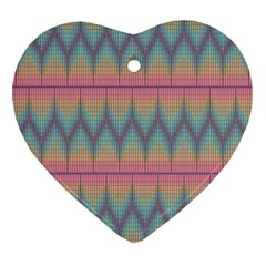 Pattern Background Texture Colorful Heart Ornament (Two Sides)
