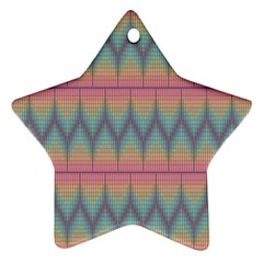Pattern Background Texture Colorful Star Ornament (Two Sides)