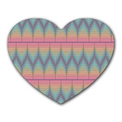 Pattern Background Texture Colorful Heart Mousepads