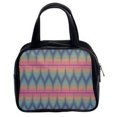 Pattern Background Texture Colorful Classic Handbags (2 Sides)