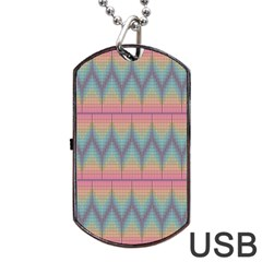 Pattern Background Texture Colorful Dog Tag USB Flash (Two Sides)