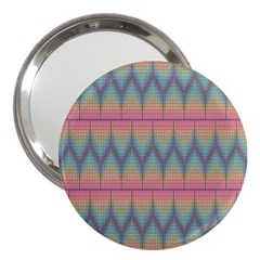 Pattern Background Texture Colorful 3  Handbag Mirrors