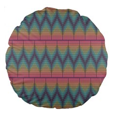 Pattern Background Texture Colorful Large 18  Premium Round Cushions