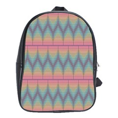 Pattern Background Texture Colorful School Bags (XL)