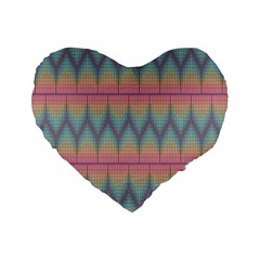 Pattern Background Texture Colorful Standard 16  Premium Heart Shape Cushions