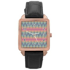 Pattern Background Texture Colorful Rose Gold Leather Watch