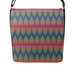 Pattern Background Texture Colorful Flap Messenger Bag (l)