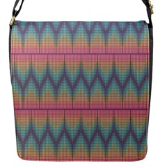 Pattern Background Texture Colorful Flap Messenger Bag (S)