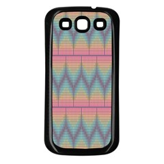 Pattern Background Texture Colorful Samsung Galaxy S3 Back Case (Black)