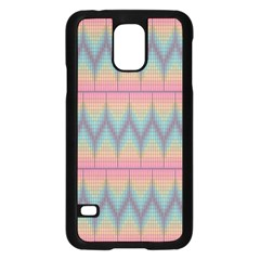 Pattern Background Texture Colorful Samsung Galaxy S5 Case (Black)