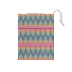 Pattern Background Texture Colorful Drawstring Pouches (Medium)