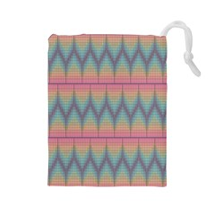 Pattern Background Texture Colorful Drawstring Pouches (Large)