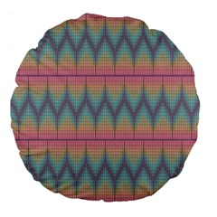Pattern Background Texture Colorful Large 18  Premium Flano Round Cushions