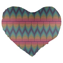 Pattern Background Texture Colorful Large 19  Premium Flano Heart Shape Cushions