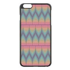 Pattern Background Texture Colorful Apple iPhone 6 Plus/6S Plus Black Enamel Case