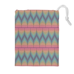 Pattern Background Texture Colorful Drawstring Pouches (extra Large)