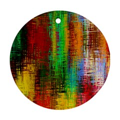 Color Abstract Background Textures Ornament (Round)