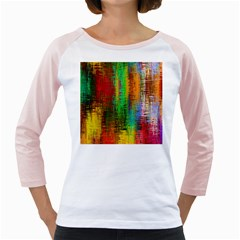 Color Abstract Background Textures Girly Raglans