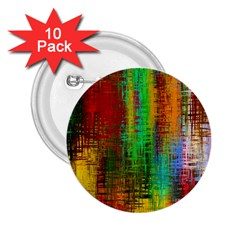 Color Abstract Background Textures 2.25  Buttons (10 pack)