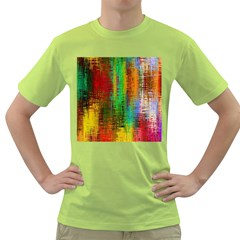 Color Abstract Background Textures Green T-Shirt