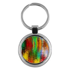 Color Abstract Background Textures Key Chains (Round)