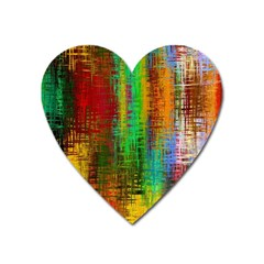 Color Abstract Background Textures Heart Magnet