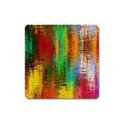 Color Abstract Background Textures Square Magnet