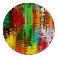 Color Abstract Background Textures Magnet 5  (Round)
