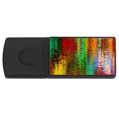 Color Abstract Background Textures USB Flash Drive Rectangular (2 GB)
