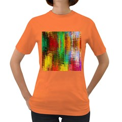 Color Abstract Background Textures Women s Dark T-Shirt