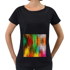 Color Abstract Background Textures Women s Loose-Fit T-Shirt (Black)
