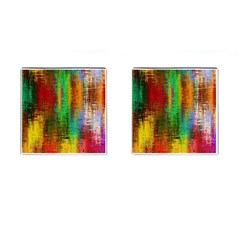 Color Abstract Background Textures Cufflinks (Square)