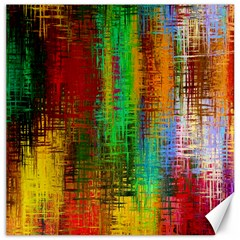 Color Abstract Background Textures Canvas 16  x 16