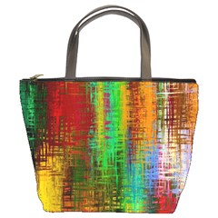 Color Abstract Background Textures Bucket Bags