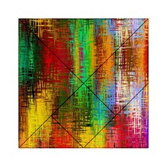 Color Abstract Background Textures Acrylic Tangram Puzzle (6  x 6 )