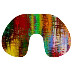 Color Abstract Background Textures Travel Neck Pillows