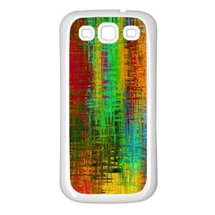 Color Abstract Background Textures Samsung Galaxy S3 Back Case (White)