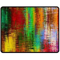 Color Abstract Background Textures Double Sided Fleece Blanket (Medium)
