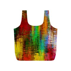Color Abstract Background Textures Full Print Recycle Bags (S)