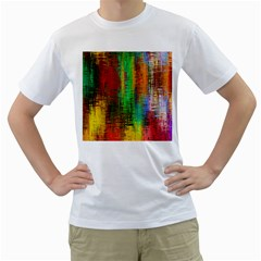 Color Abstract Background Textures Men s T Shirt (white)