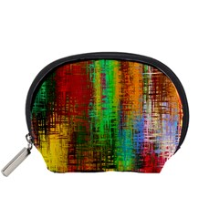 Color Abstract Background Textures Accessory Pouches (Small)