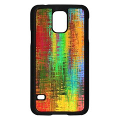 Color Abstract Background Textures Samsung Galaxy S5 Case (Black)
