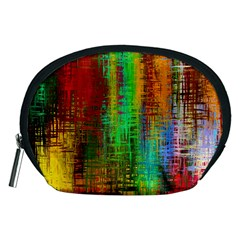 Color Abstract Background Textures Accessory Pouches (Medium)