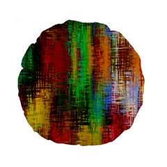 Color Abstract Background Textures Standard 15  Premium Flano Round Cushions