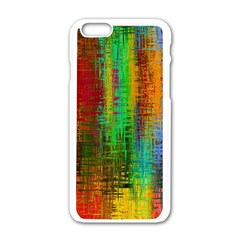 Color Abstract Background Textures Apple iPhone 6/6S White Enamel Case